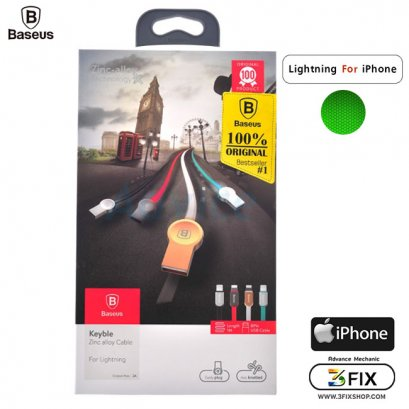 Cable Charger for iPhone 'BASEUS' (Keyble) 1 เมตร Green