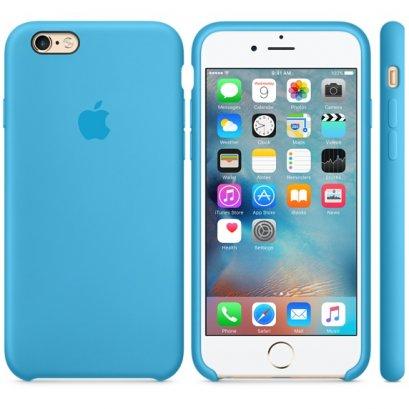 เคสซิลิโคน iPhone 6 Plus สีฟ้า (Original)