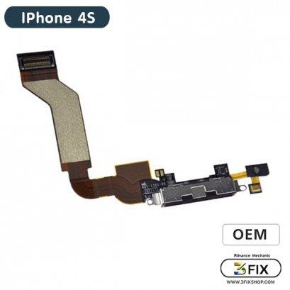 ชุดแพร ก้นชาร์จ ( OEM ) iPhone 4S