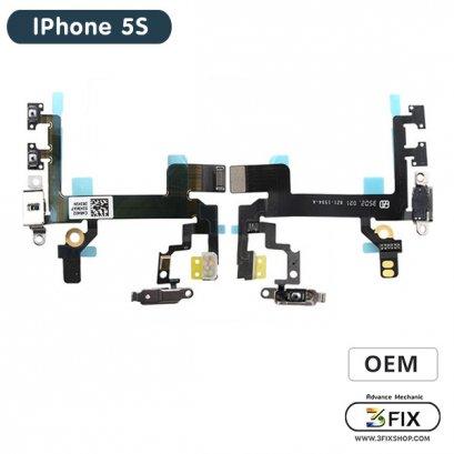 แพรชุดสวิทย์ออน+เสียง ( OEM ) iPhone 5S