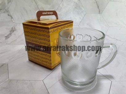 แก้วกาแฟใสใส่กล่อง7*9 เซนติเมตร - ของชำร่วยงานศพ