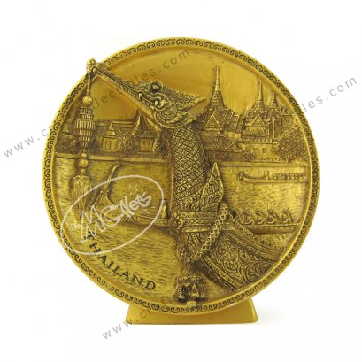 Royal Barge Show Plate - GOLD