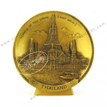 Wat Arun Show Plate - GOLD