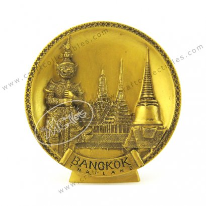Temple of the Emerald Buddha (Giant) Show Plate - GOLD