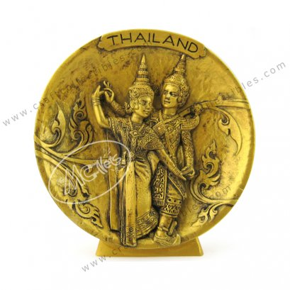 Thai Dance Show Plate - GOLD