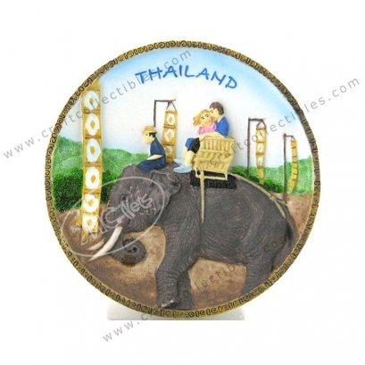 Chiangmai Elephant Show Plate