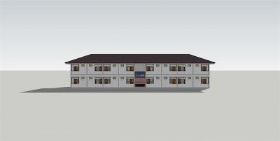 แบบห้องเช่า2ชั้นหลังคาทรงปั้นหยา BluePrint-0061