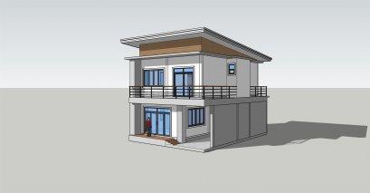 แบบบ้าน2ชั้นโมเดิร์น 3ห้องนอน 2ห้องน้ำ BluePrint-0049