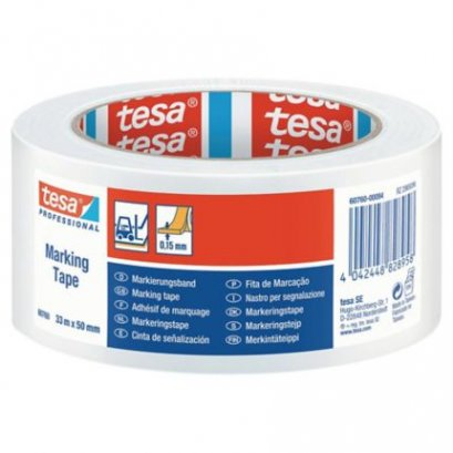 "TESA 60760  Floor Marking Tape (White  Size 2"" X 33M)"