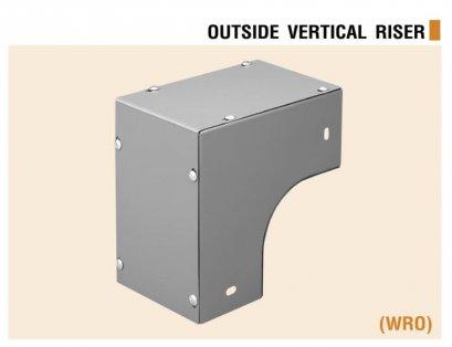ข้อต่อโค้ง 90 แนวตั้ง เปิดนอก  Elbow Wire way Vertical (outside)