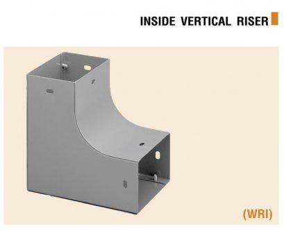 ข้อต่อโค้ง 90 แนวตั้ง เปิดใน  Elbow Wire way Vertical (inside)