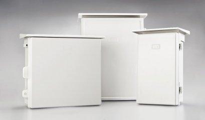 ตู้กันน้ำพลาสติกมีหลังคา Waterproof Plastic Cabinet ยี่ห้อ NANO, SP, MOS