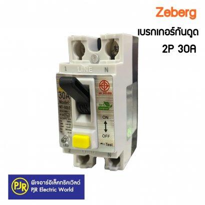เบรกเกอร์กันดูด ป้องกันไฟดูด ไฟรั่ว Zeberg 2p 30A