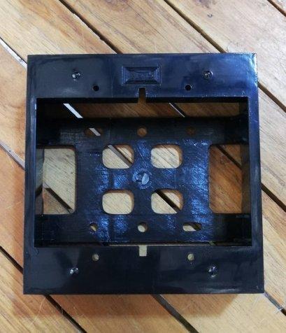 บล็อกลอย ขนาด 2x4-4x4 นิ้ว ขอบเหลี่ยม สีดำ ยี่ห้อ NANO