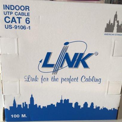 สาย LAN CAT 6  INDOOR  US-9106-1 ยาว 100 เมตร ยี่ห้อ LINK