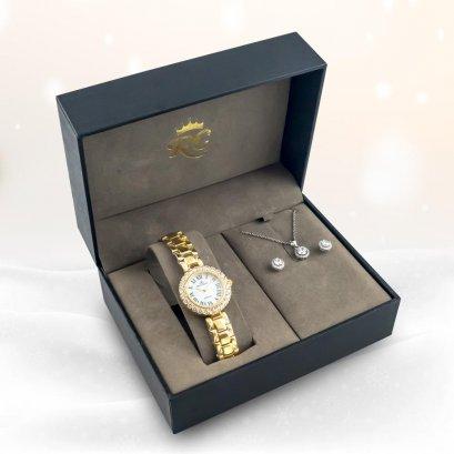 Royal Crown รุ่น Gold Series นาฬิกาข้อมือผู้หญิง No.RC006GG