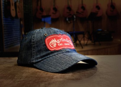 Martin Ball Cap Chambray with Red Patch