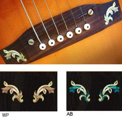 Guitar Bridge Inlay Sticker Traditional (AB) 2 pcs / set