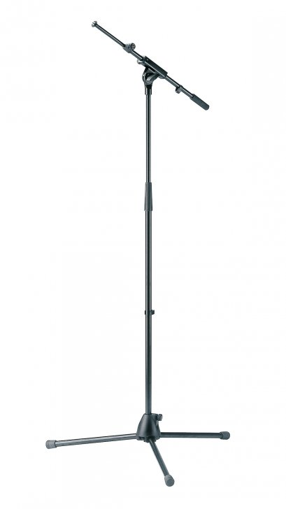 K&M 27195 Microphone stand with extendable boom arm