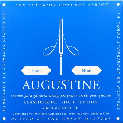 Augustine Nylon Strings Classic / Blue, High Tension