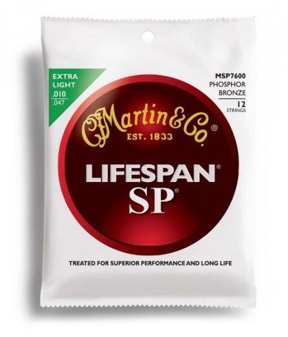 Martin 12-String Acoustic SP Lifespan Phosphor Bronze Extra Light 10-47