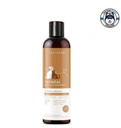 Kin+Kind : Oatmeal Dog & Cat Shampoo แชมพูออร์แกนิคสำหรับสุนัขและแมว สูตรโอ๊ตมีล