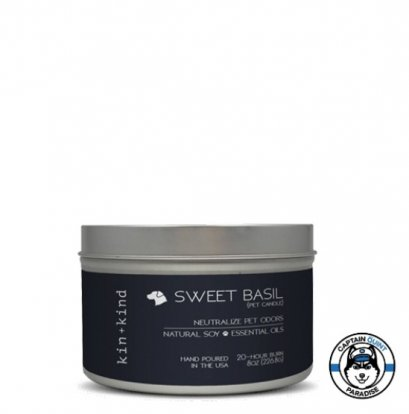 Kin+Kind : Sweet Basil Pet Candle เทียนหอมสำหรับสัตว์เลี้ยง กลิ่นโหระพา