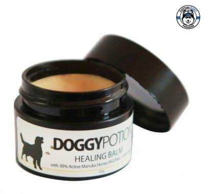 Doggy Potion : บาล์มทาผิวสุนัขสูตร shea butter และน้ำผึ้งมานูก้า 20g.