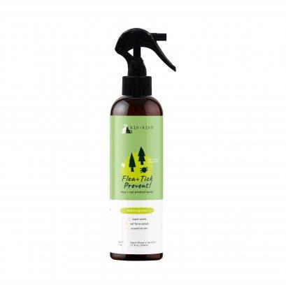 Kin+Kind สเปย์ป้องกันเห็บหมัดสำหรับสุนัขและแมว กลิ่นเลม่อนกลาส Flea & Tick Lemongrass Repel Spray
