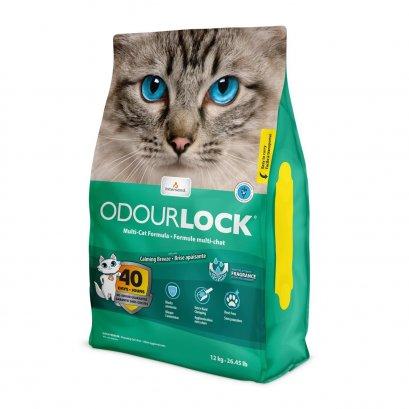Odour Lock Ultra Premium Cat Litter - Calming Breeze โอเดอร์ล็อค ทรายแมว เกรดพรีเมี่ยม ที่ทำจากหินภูเขาไฟ