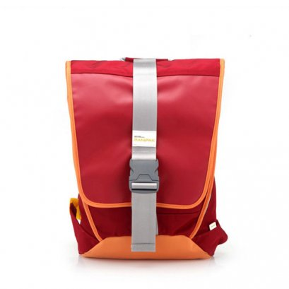 กระเป๋า DURABLE SOLID FLAP BACKPACK-RED