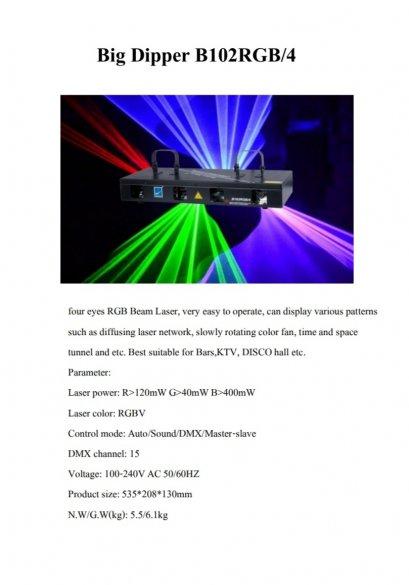 LASER 4 HEAD B102 RGB /4
