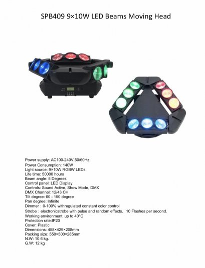 MINI MOVING LED 9 EYE