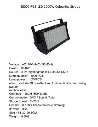 STROBE LED 1000w RGB