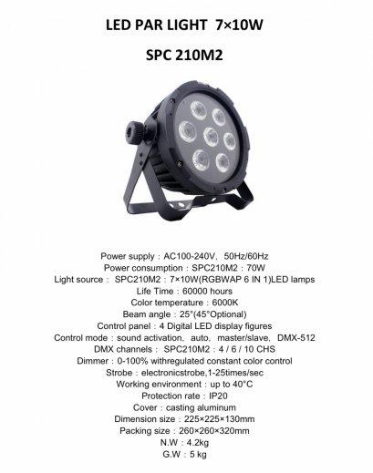 PAR LED SPC 210 M2 (7x10w)