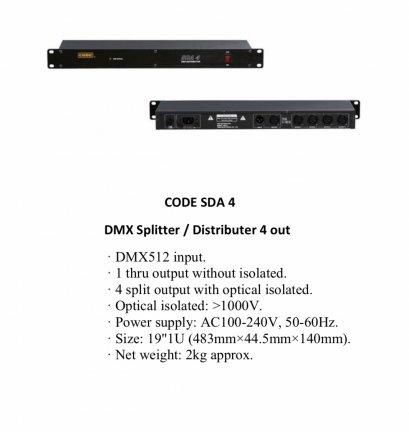 Code SDA4  4 Spitter 4 way