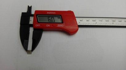 เสารองโลหะแบบหกเหลี่ยม  ขนาด 6 มม.