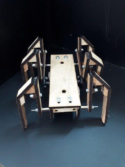 (New Version)ชุดประกอบสำเร็จกลไกหุ่นยนต์ BugBot 6-Leg รุ่น DC moter 48:1 (ประกอบสำเร็จ)