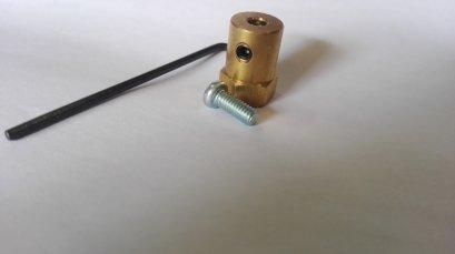 ข้อต่อสำหรับล้อยาง ใช้ต่อมอเตอร์แกน 6mm