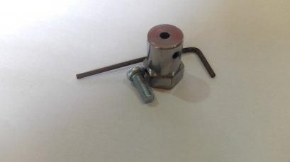 ข้อต่อสำหรับล้อยาง ใช้ต่อกับมอเตอร์แกน 3mm