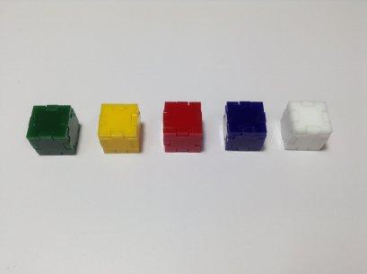 กล่องลูกบาศก์ ขนาด 1.5x1.5x1.5 cm จำนวน 1 ชิ้น
