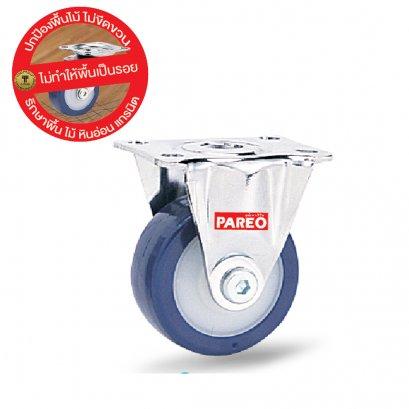 Bánh xe PU compact - càng thép cố định Pareo