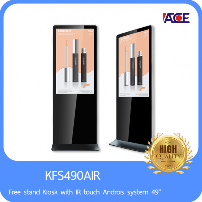 """Free stand Kiosk with IR touch Androis system 49"""""""