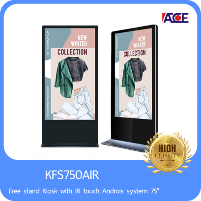 Free stand Kiosk with IR touch Androis system 75""
