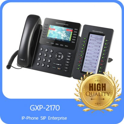 "GrandStream IP-Phone SIP Enterprise 12 Line, 6SIP, 2 Port Lan, HD Audio, 4.3"" LCD Color, 5-Way Conference, 10/100/1000Mbps,  POE, Bluetooth"