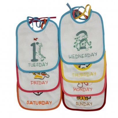 7 Days Pack bibs set (tie closer)