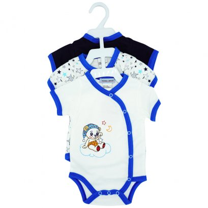 3 Pack Half Sleeves Cotton Bodysuit