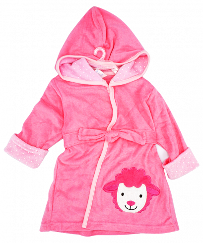 Full Sleeves Hooded Applique Bath Robe