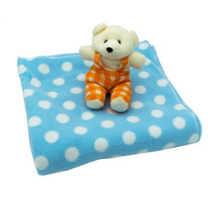 Baby fleece blanket with toy