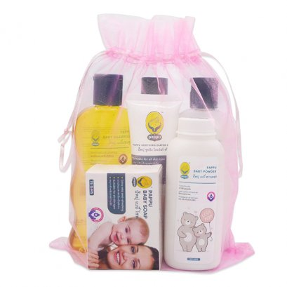6 pcs set, baby soap, powder, shampoo, baby head to toe, lotion, baby nappy cream (Large)